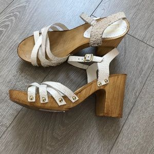 Topshop Nancy Chunky Wooden Sandals - Boho